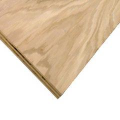 "3/4"" x 4' x 4' Cut Oak Plywood"