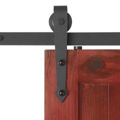 """Arrow 1/4"""" x 78-3/4"""" x 1-9/16"""" Black Sliding Barn Door Kit"""