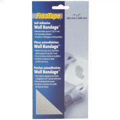"Wall Bandage Fiberglass Wall Repair Patch 7"" x 7"" White- 2/P"