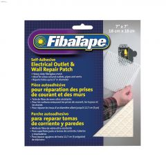 "FibaTape 7"" x 7"" White Electrical Outlet/Wall Repair Patch"