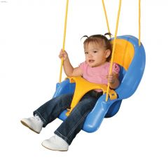 Comfy-N-Secure 55 lb Blue/Yellow Toddler Swing