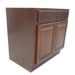 "34-1\/2\"" x 36\"" Espresso Sink Base Cabinet"