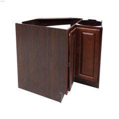 """36\"""" Espresso Lazy Susan Base Cabinet With Rotary Shelves"""