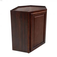 "30\"" x 24\"" Espresso Diagonal Wall Corner Cabinet"