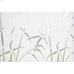 "17.71"" x 78.74"" Bamboo Static Privacy Window Film"