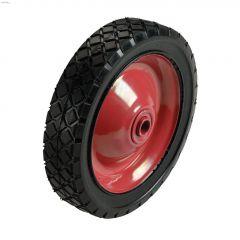 "6"" Steel Hub Diamond Tread Semi-Pneumatic Wheel"