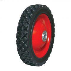 "7"" Steel Hub Diamond Tread Semi-Pneumatic Wheel"