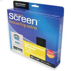 "30"" x 40"" Black Fiberglass Sash & Basement Window Screen"