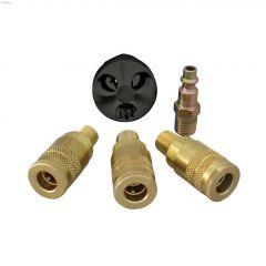 "1/4"" MNPT Zinc Steel Coupler Triple Hose Splitter Kit"