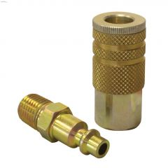 "1/4"" MNPT x 1/4"" FNPT Coupler Tool Connection 2-Piece Kit"