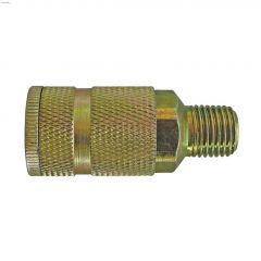 """Maxquik 1/4"""" MNPT Zinc Steel ARO 210 Manual Quick Coupler"""
