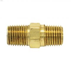 "1/4"" Hex Brass Male Nipple"