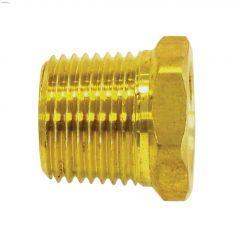 "3/8"" MNTP x 1/4"" FNTP Brass Pipe Reducing Bushing"
