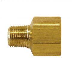 "1/4"" MNPT x 3/8"" FNPT Brass Hex Reducer Bushing"