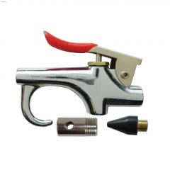 """1/4"""" FNPT Steel Compact Air Blow Gun With 2 Tips"""