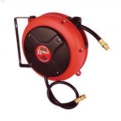 "1/4"" MNPT x 27' PVC Mini Compact Retractable Hose Reel"