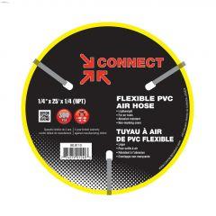 "1/4"" MNPT x 25' Yellow PVC Air Compressor Hose"