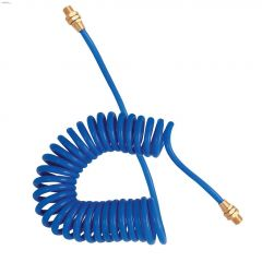 "1/4"" MNPT x 25' Blue Nylon Recoil Air Hose"