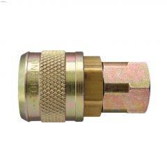"1/4"" FNPT Brass Automatic Quick Coupler"