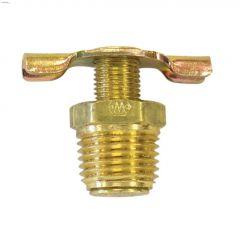 """1/4"""" MNPT Brass Drain Cock-2/Pack"""