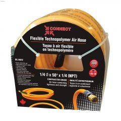 "1/4"" MNPT x 50' Orange Technopolymer Air Compressor Hose"