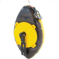 100' Line Length Safety Yellow ABS Chalk Line Reel