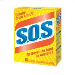 S.O.S Steel Wool Soap Pad-18/Pack