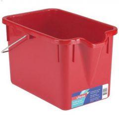 15 L Metal Handle Red Rectangular Bucket