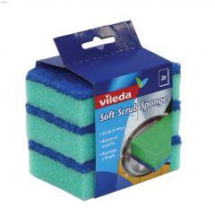 Blue & Green Soft Scrub Sponge-3/Pack
