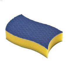 Scrunge Glass Blue & Yellow Scrub Sponge-2/Pack