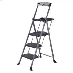 Steel Folding Deluxe 3-Step Ladder