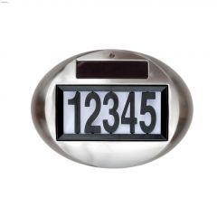 9 Lumens Bright White Solar House Number Plate