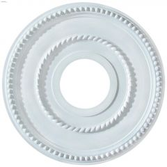 "3-5/8"" x 12"" White Rope Design/Pearl Ceiling Medallion"