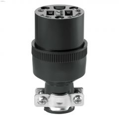 Thermoplastic Rubber Black Connector 15A 125V 2P/3W