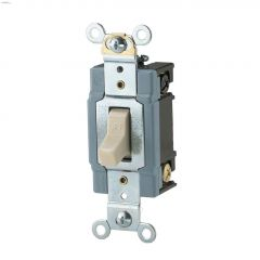White 4-Way AC Toggle Switch 120/277V