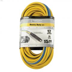 Tradesman 3 Outlet 12 AWG 3C 15 m Yellow/Blue Power Cord