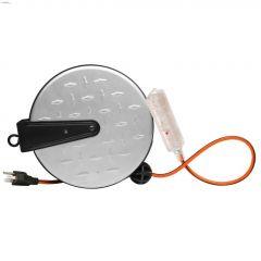 16 AWG 3C 30' Silver Retractable Cord Reel