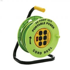 6 Outlet 12 AWG 3C 50' Heavy Duty Cord Reel