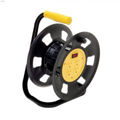 4 Outlet 50' Free Standing Cord Storage Reel Power Station