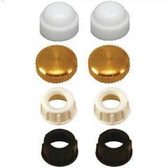 """1/8"""" IPS Plastic Assorted Lamp Cap"""