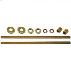 "12"" Zinc/Brass Threaded Rod With Hardware"