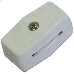 Universal Cord White In-Line Switch