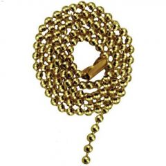 "24"" Brass Beaded Pull Chain"