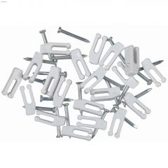 White Nail-In Phone Clip-20/Pack