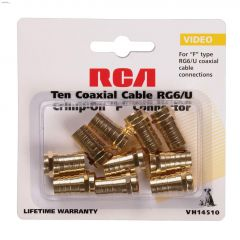Brass Coaxial Crimp-On Connector-10/Pack