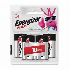 Max 1.5V C Alkaline Battery-4/Pack