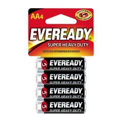 Eveready Super Heavy Duty AA Battery-4/Pack