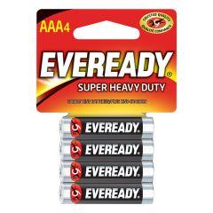 Eveready Super Heavy Duty AAA 1.5V Battery-4/Pack