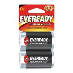 Eveready 1.5V D Super Heavy Duty Battery-2/Pack