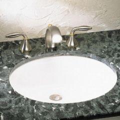 """Ovalyn 19-1/4"""" x 16-1/4"""" White Undercounter Sink"""